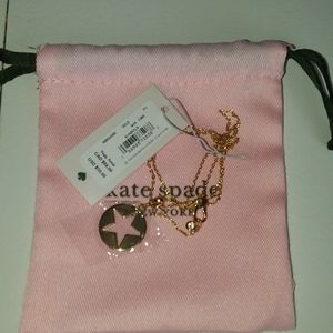 *NWT* Kate Spade gold star necklace